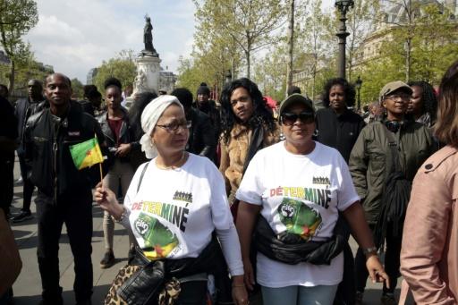 Manifestation de soutien au mouvement social en Guyane le 15 avril 2017 place de la République à Paris