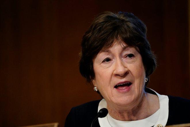 La sénatrice américaine Susan Collins le 19 janvier 2021 à Washington